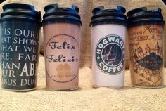 Customizable Harry Potter Gift Set Travel Coffee Tea Travel Mugs Cups Golden Snitch Necklace Watch Felix Felicis Deathly Hollows by SeedsOfFaithMom on Etsy https://www.etsy.com/listing/178572129/customizable-harry-potter-gift-set
