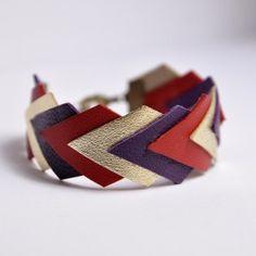 Bracelet Géométrique Cuir - diy bracelet cuir