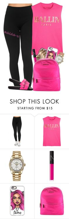 """Ballin in pink"" by childish-tc ❤ liked on Polyvore featuring Brian Lichtenberg, Rolex, NARS Cosmetics, Casetify, Michael Kors and Givenchy"