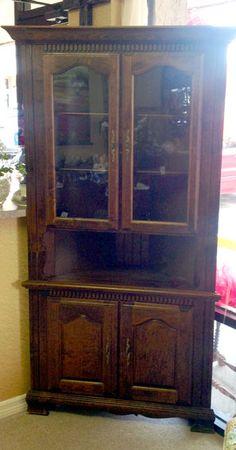 Corner cabinet, solid wood