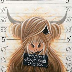 Highland Cow Painting, Animal Pick, Cow Wallpaper, Cow Drawing, Cartoon Cow, Chicken Painting, Simple Canvas Paintings, Highland Cattle, Cow Art