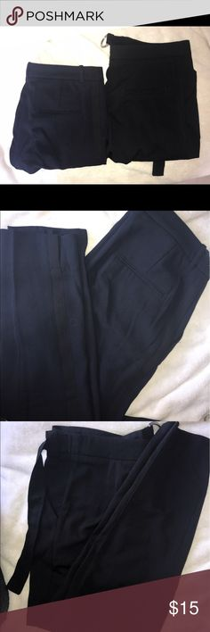 Two pairs of H&M trousers - navy and black Hardly worn two pairs of H&M trousers. One is navy and the other black H&M Pants Trousers