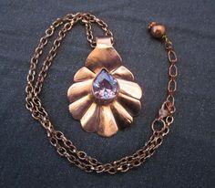 gemstone jewelry gemstone pendant modern by FirednWiredJewelry