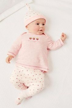 Buy Pink Strawberry Four Piece Set (0mths-2yrs) online today at Next: United States of America