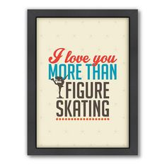 Americanflat Patricia Pino ''Love Figure Skating'' Framed Wall Art, Multicolor
