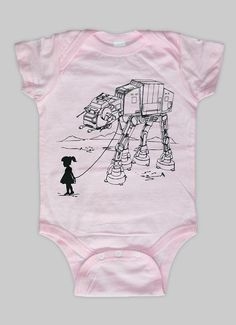 Baby Shower - My Star Wars AT-AT Pet - Baby Onesie Bodysuit (Star Wars Baby Clothing) on Etsy, $15.00