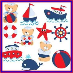 desenho de marinheiro - Pesquisa Google Boy Birthday Parties, Baby Birthday, Nautical Party, Party Props, Baby Play, Cool Baby Stuff, Baby Cards, Kids Decor, Felt Crafts