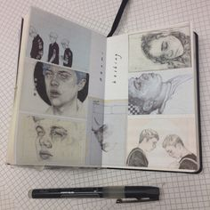 sketchbook art and ideas for illustrations and drawing Arte Sketchbook, Sketchbook Pages, Sketchbook Ideas, Small Sketchbook, Kunstjournal Inspiration, Sketchbook Inspiration, Art Sketches, Art Drawings, Pencil Drawings