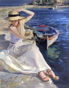 Vladimir Volegov At Water's Edge painting is shipped worldwide,including stretched canvas and framed art.This Vladimir Volegov At Water's Edge painting is available at custom size. Woman Painting, Figure Painting, Vladimir Volegov, Impressionism Art, Painting Edges, Beautiful Paintings, Painting Inspiration, Female Art, Art Gallery