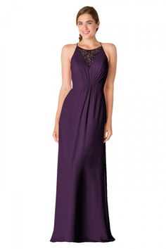 Bari Jay - 1708 | Bridesmaids & Special Occasion at Jaehee Bridal Atelier    #aline #halter #illusion #vneck #lace #straps #bridesmaid #bridesmaids #bridesmaiddresses