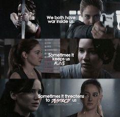 .Hunger Games • Katniss │ Divergent • Tris