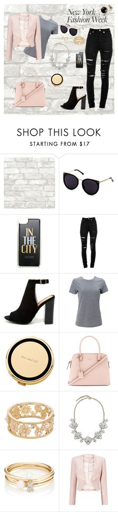 """""""NYFW"""" by jojo2122 ❤ liked on Polyvore featuring CITYSHOP, Yves Saint Laurent, Bamboo, Simplex Apparel, Kate Spade, Saks Fifth Avenue, Loren Stewart and Precis Petite"""