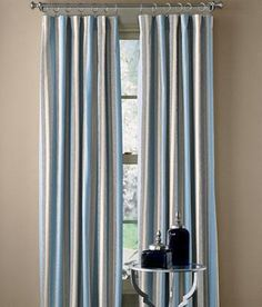 Camden Stripe Lined Rod Pocket Curtains $89.95 - $129.95