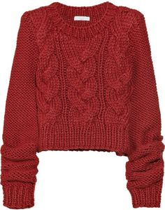 ShopStyle: Adam Cable-knit wool-blend sweater