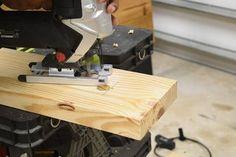 DIY Platform Bed With Floating Night Stands: 7 Steps (with Pictures) Pallet Bed Frames, Wooden Pallet Furniture, Diy Bed Frame, Wooden Pallets, Diy Furniture, Diy End Tables, Bedside Tables, Floating Bed, Diy Platform Bed