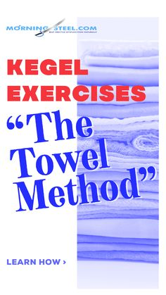 Kegel Exercises: The Towel Method. The way of doing this is just to contract the muscle anytime, no erection necessary, and hold it for 40 seconds then rest for Learn more. Bruce Lee Abs Workout, Kegel Exercise For Men, Men Over 40, Pelvic Floor Exercises, Increase Testosterone, Just For Men, Male Enhancement