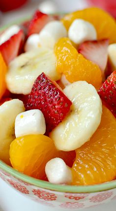 Easy Fruit Salad ~ It is quite possibly the easiest, yet tastiest, fruit salad... Always a hit!