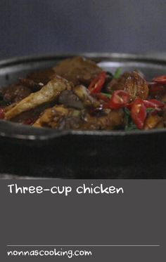 """Three-cup chicken 