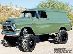 GMC Panel Type truck- vintage retro green!!