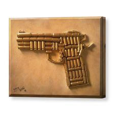Wilson Combat 1911 Canvas Print / Canvas Art by Bryan Evenson Ammo Crafts, Crafts To Do, Arts And Crafts, Bullet Casing Crafts, Bullet Crafts, Bullet Art, Bullet Shell, Shotgun Shell Crafts, Gun Decor