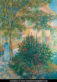 Camille Monet in the Garden at Argenteuil 1876 - Claude Oscar Monet - www.claudemonetgallery.org