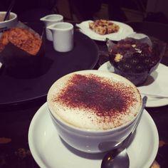 Cappuccino Time + #muffin #granolabar