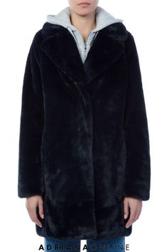 Kendall + Kylie - Faux Fur Coat With Hoodie. Model is and is wearing a s Best Winter Coats, Winter Coats Women, Coats For Women, Kendall And Kylie, Cold Day, Faux Fur, Waiting, Fur Coat, Hoodies