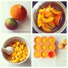 Pumpkin & Mango purée [6m+] - homemade baby food.