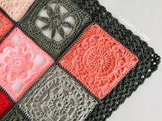 Ravelry: Iris Stitch Edging pattern by Lullaby Melodia Crochet Border Patterns, Crochet Blanket Edging, Crochet Lace Edging, Vintage Crochet Patterns, Crochet Afghans, Square Patterns, Crochet Blankets, Crochet Star Stitch, Crochet Stars