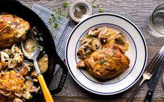 Cider-Braised Chicken and Mushrooms | Recipe