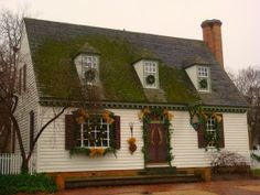 A house decorated for December's Grand Illumination at Colonial Williamsburg VA. You can see it for free!