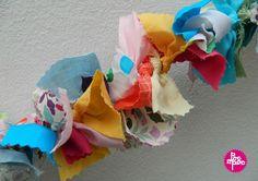 guirlande en tissu poc a poc,décoration, déco,décoration chambre enfant,DIY,tutorial4 blog