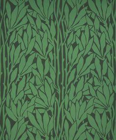 Blätter grün, Jugendstil, ca. 1900.