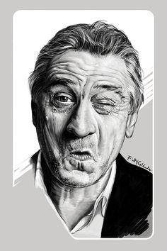 Robert De Niro by Diego Schirinzi - illustration - #massoneriacreativa #masonry #brotherhood - www.massoneriacreativa.com