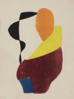 Hendrik Nicolaas Werkman (1882-1945)   Hot Printing 8 (Vrouw met gele sjaal)   20th Century, Prints & Multiples   Christie's