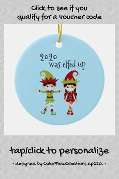 2020 Was Elfed Up Funny Covid Face mask Elf Ceramic Ornament - tap/click to get yours right now! #CeramicOrnament #holiday, #christmas, #ornament, #2020, #coronavirus, Christmas Holidays, Christmas Ornaments, Tree Designs, Paintings For Sale, Thank You Cards, Elf, Ceramics, Funny, Face