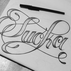 I love this...   lettering. Totally Predictable Sucka - lol | #lettering #ItsPerfect