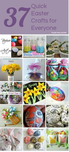 Quick and Easy Easter crafts for EVERYONE!