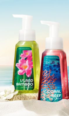 Create an underwater paradise every time you suds up with NEW paradise-inspired Hand Soaps! #BBWPureParadise
