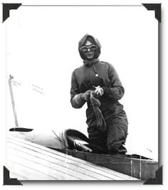 April 16 1912 - Harriet Quimby becomes first woman to fly an airplane across the English Channel