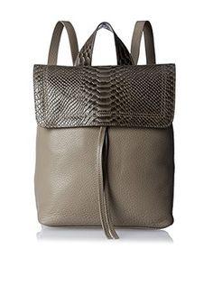 Possé Women's Ives Backpack, Grey Snake/Shark Grey