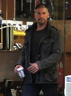 68178c62be119 Daredevil The Punisher Gray Cotton Jacket. Leather VestReal LeatherJon  BernthalHell On WheelsCotton ...