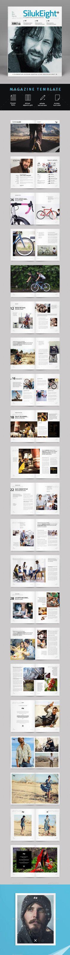 Magazine Template | #magazinetemplate #magazinedesign | Download: http://graphicriver.net/item/magazine-template/10068037?ref=ksioks