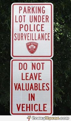 Parking lot under police surveillance.