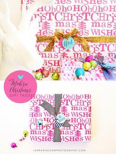 Free Modern Christmas Gift Tags // DIY Holiday Printables #christmas #holiday #gift #printable #free #diy