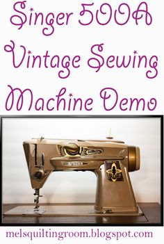 A demo of the Singer 500 vintage sewing machine. AKA The Rocketeer and The Slant-O-Matic. The last great machine Singer ever made.