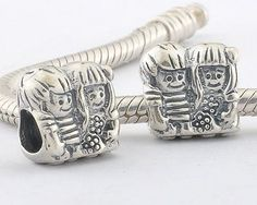 CLFJ143 925 Sterling Silver Sisters Pandora Charms beads Jewelry on sale,for Cheap,wholesale