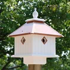 Carriage Bird House, Copper Roof #birdhouses
