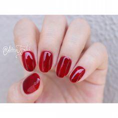 Self Nail, Nail Designs, Nail Polish, Beauty, Manicure Ideas, Red Nails, Nail Arts, Nail Colors, Queen