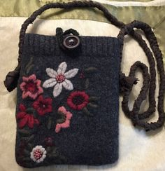 A personal favorite from my Etsy shop https://www.etsy.com/listing/280928090/felt-gray-black-red-messenger-bag-ipad